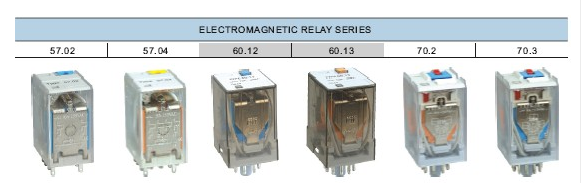 Electromagnetic Relay Series with various terminals types